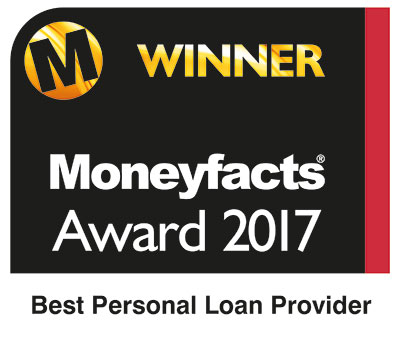 Moneyfacts Awards 2017 - winner - best personal loan provider